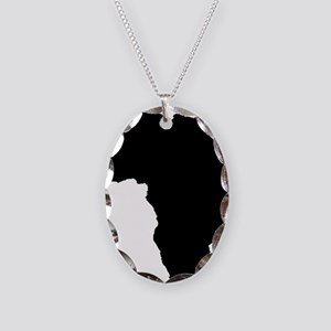 African Continent_Large Necklace Oval Charm