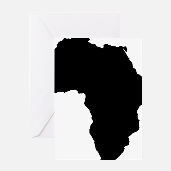 African Continent_Large Greeting Card