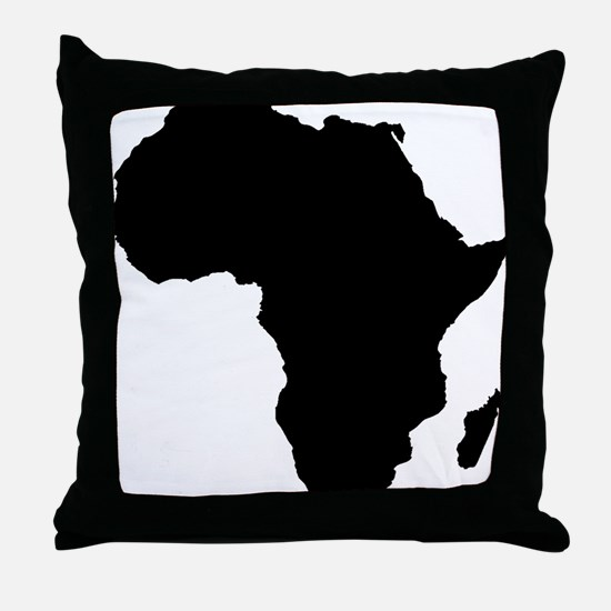 African Continent_Large Throw Pillow