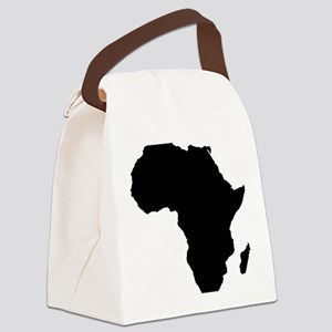 African Continent_Large Canvas Lunch Bag