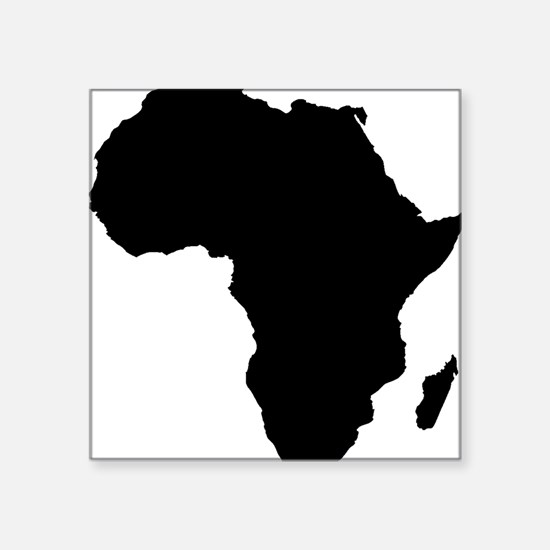 "African Continent_Large Square Sticker 3"" x 3"""