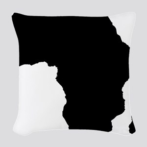 African Continent_Large Woven Throw Pillow