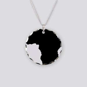 African Continent_Large Necklace Circle Charm