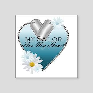 """2-sailor Square Sticker 3"""" x 3"""""""