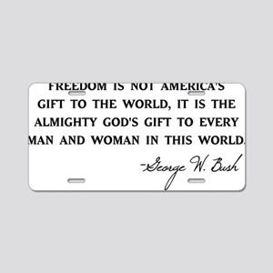 Freedom-Bush-(white-shirt) Aluminum License Plate