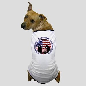 Tea Party - Button w website for dark  Dog T-Shirt