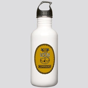 Navy-Cmd-MCPO-Insignia Stainless Water Bottle 1.0L