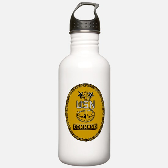 Navy-Cmd-MCPO-Insignia Water Bottle