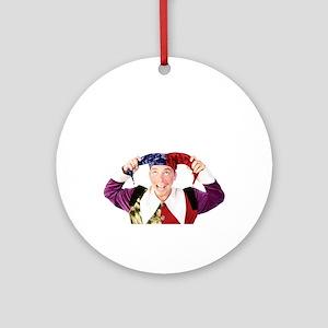 clownsenateBLK Round Ornament
