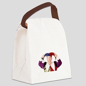 clownsenateBLK Canvas Lunch Bag