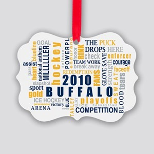 BuffHockeyWords_Wht Picture Ornament