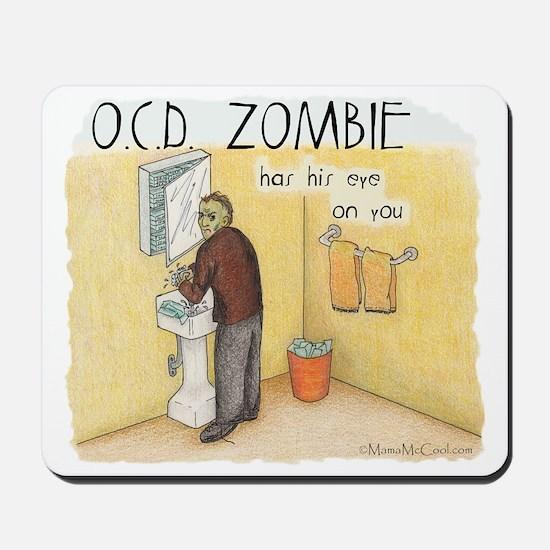 OCD Zombie Copyright Mousepad