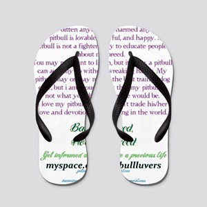 ban the deed not the breed Flip Flops