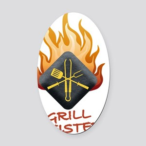 GM GRILL MEISTER Oval Car Magnet