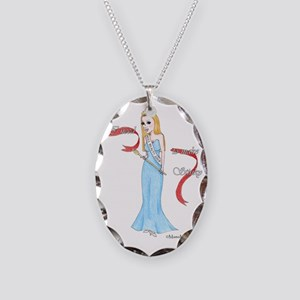 Make Stinky White Copyright Necklace Oval Charm