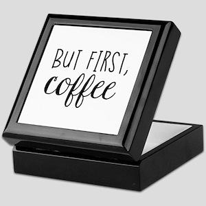 Coffee First Keepsake Box