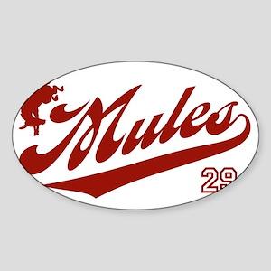 mules_baseball29 Sticker (Oval)