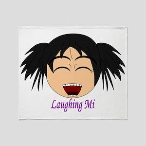 Laughing Mi Throw Blanket