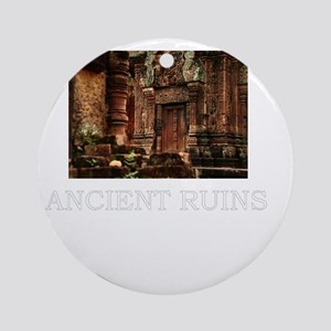 ancient ruins trans3 Round Ornament