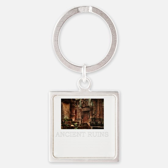 ancient ruins trans3 Square Keychain