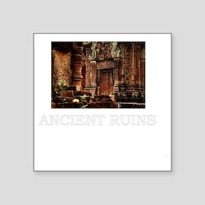 "ancient ruins trans3 Square Sticker 3"" x 3"""