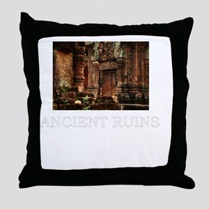 ancient ruins trans3 Throw Pillow