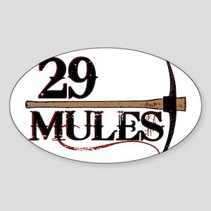 29Mules_RingerAxeMULTIcolor Sticker (Oval)