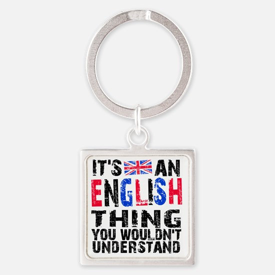 English Thing Square Keychain