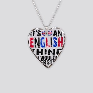 English Thing Necklace Heart Charm
