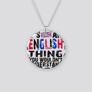 English Thing Necklace Circle Charm