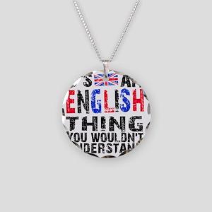 English Thing Necklace Circle Charm