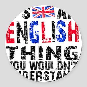 English Thing Round Car Magnet