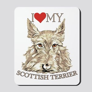 Wheaten Scottish Terrier Love My Mousepad