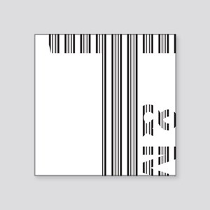 "T Logo - Black Stripes Square Sticker 3"" x 3"""