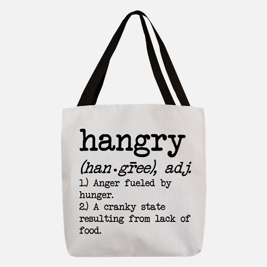 Hangry: Defined Polyester Tote Bag