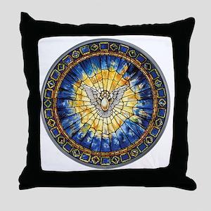 3-HolySprit_Trans_ Throw Pillow