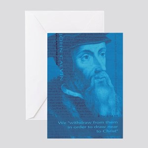 Journal_HeadQuote_Calvin_blue Greeting Card