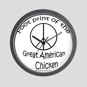 2-greatamericanchicken copy Wall Clock