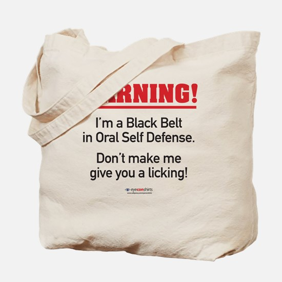 AH-160-L_BlackBelt Tote Bag