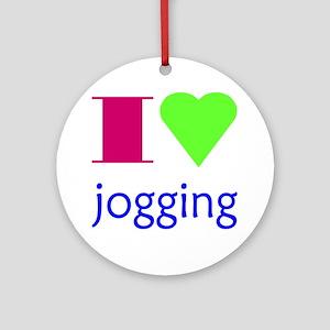 jogging Round Ornament