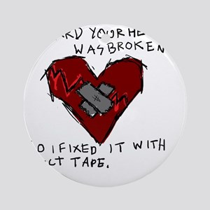 Good Broken Heart Round Ornament