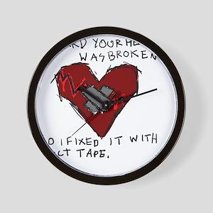 Good Broken Heart Wall Clock