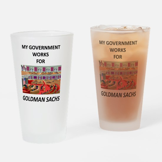 MY GOVERNMENT WORKS Drinking Glass