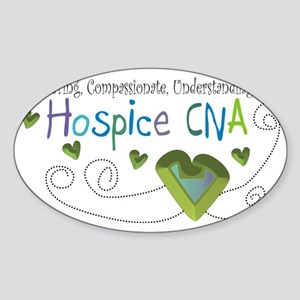 Hospice CNA Sticker (Oval)