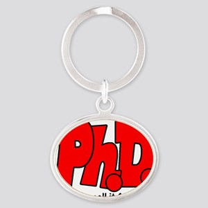 PhD Oval Keychain