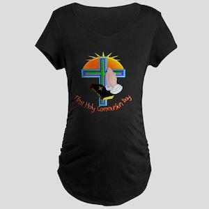 First Holy Com Day Maternity Dark T-Shirt