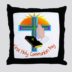 First Holy Com Day Throw Pillow