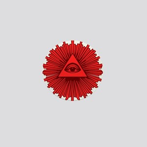 All Seeing Eye Red Mini Button
