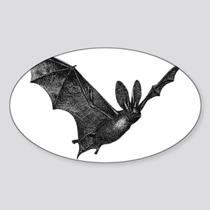 Bat4Wht Sticker (Oval)