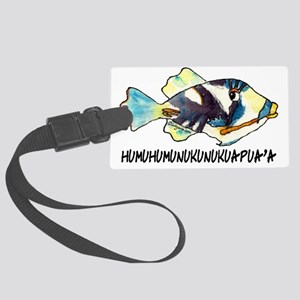050AHumuNukuNameFish-R Large Luggage Tag